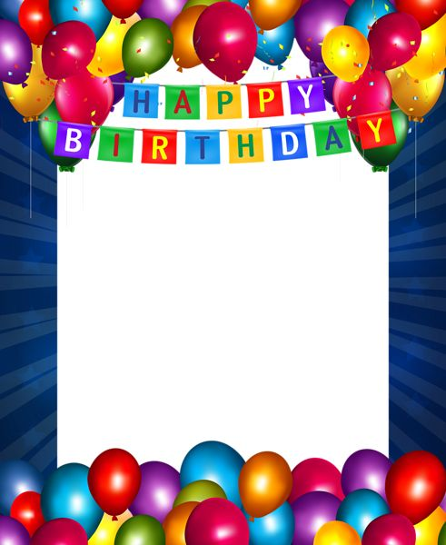 happy birthday blue transparent png frame