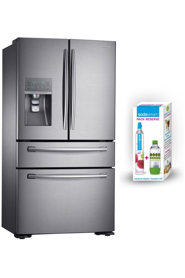 Refrigerateur Multi Portes Samsung Rf24hsesbsr Pack Reserve Sodastream Grand Refrigerateur Frigo Americain Refrigerateur