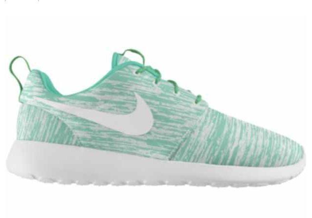 Womens shoes Nike roshe run teal green blue