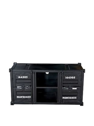 CDI Container Style TV Cabinet, Black