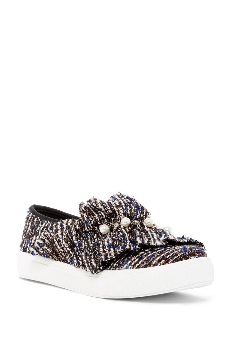 Jean Genie Tweed Slip-On Sneaker