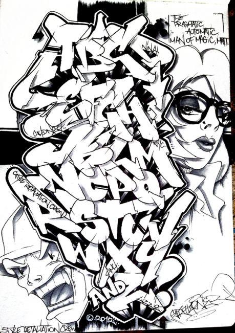 Stratafarian Graffiti Alphabet by stratasfear93x