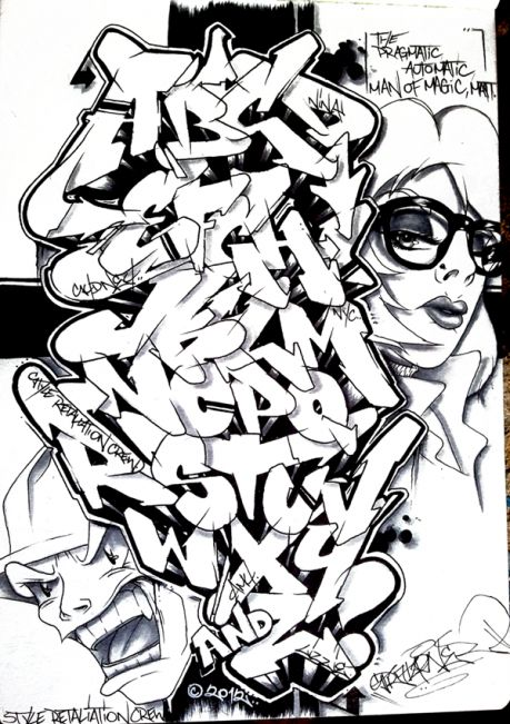 Stratafarian Graffiti Alphabet by stratasfear93x visit dopewriter.com to buy personal graffiti via paypal