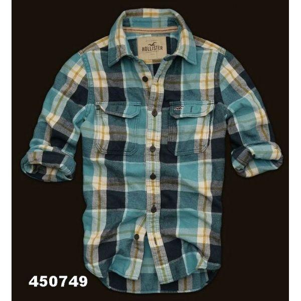 camisa xadrez hollister masculina 3