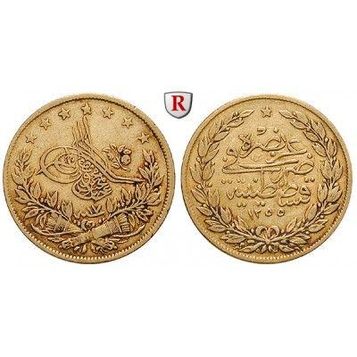 Osmanisches Reich, Abdul Medschid, 100 Piaster 1854/1855, 6,61 g fein, ss: Abdul Medschid 1839-1861. 100 Piaster 6,61 g fein,… #coins