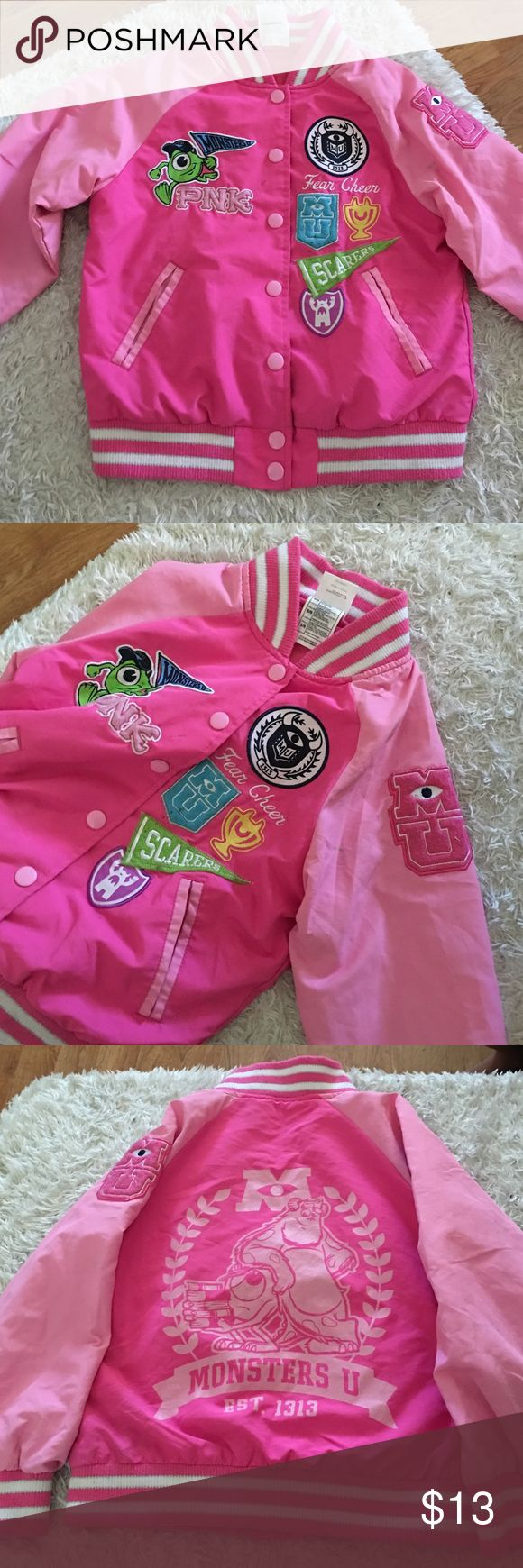 Monsters Inc Girls Jacket Pink monsters inc cheer jacket! Disney store size 5/6 limited Edition good condition! Disney Store Jackets & Coats