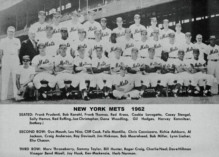 first year 1962 new york met team photo stengel hodges