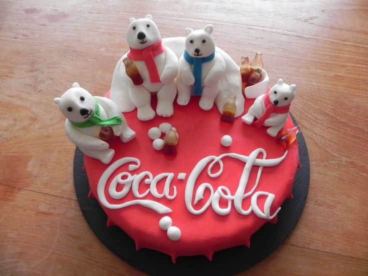 Coca cola bears cake                                                                                                                                                                                 More