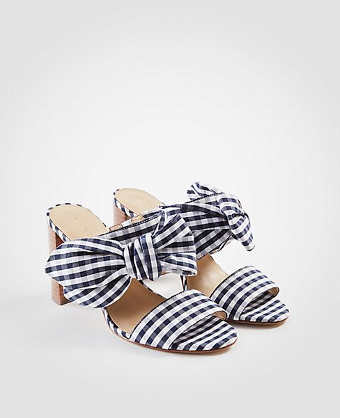 1b3817662e1 Shop Ann Taylor for effortless style and everyday elegance. Our Oriana  Gingham Bow Block Heel Sandals is the perfect piece to add to your closet.