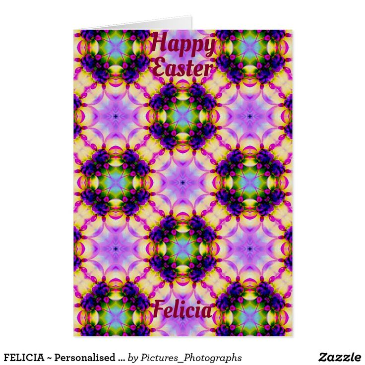 FELICIA ~ Personalised Easter card pattern ~