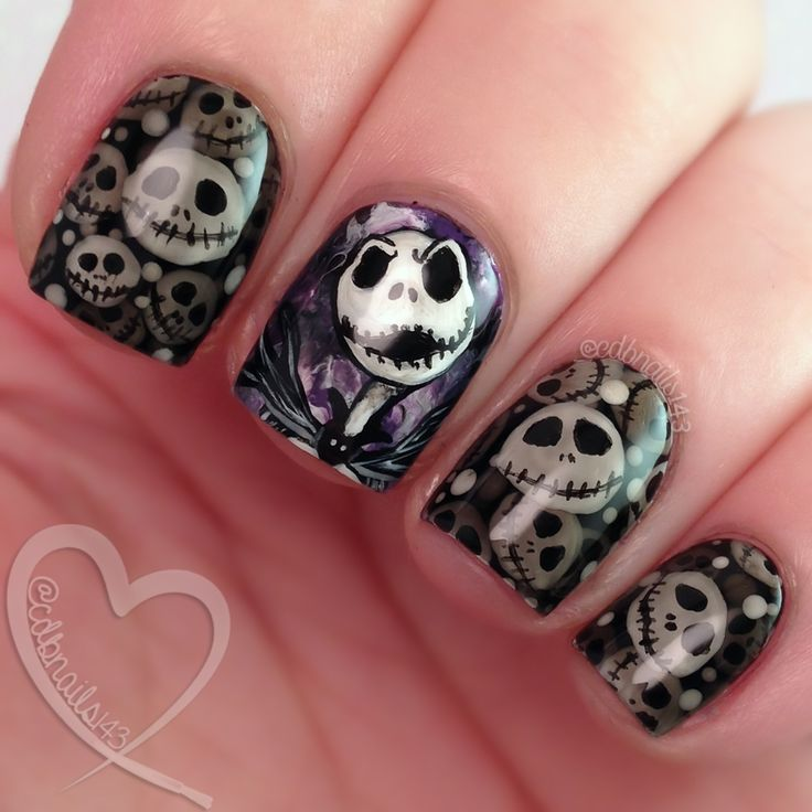 Simply Amazing nail art by cdbnails Nightmare Before