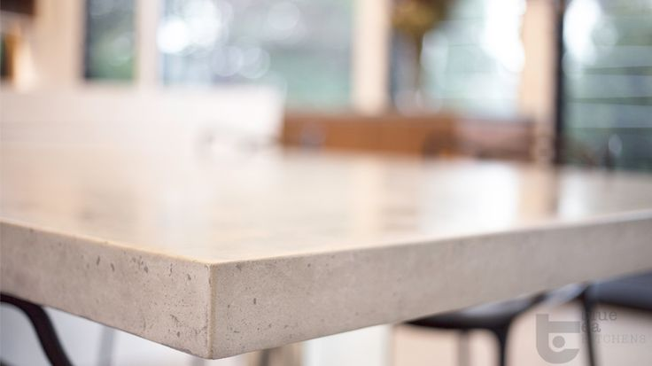 manly kitchen stone bench top, looks like concrete!