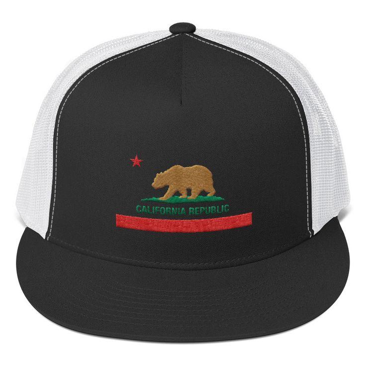 California Republic Flag-Trucker Cap