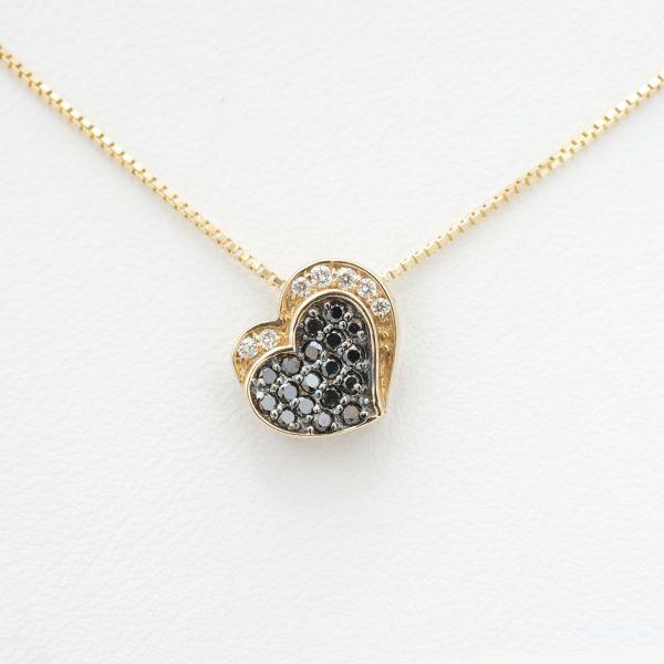 K18ピンクゴールドブラックダイヤペンダント ミルデザイン ブラックダイヤ:0.20ct