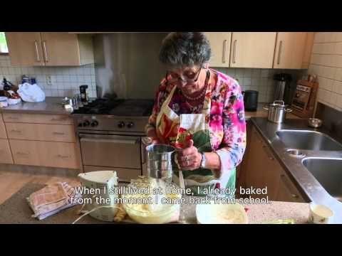 Recept chocoladecake. De moeder van kok Wouter Keersmaekers bakt voor Grandma's Design.