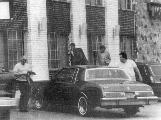 From left to right: Sciascia, Vito Rizzuto, unidentified man and Joseph Massino in 1981.