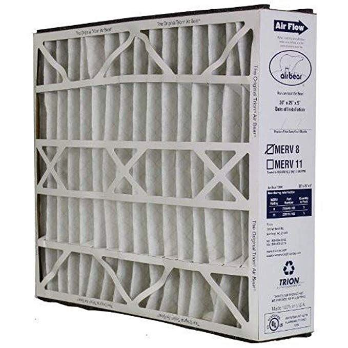 Trion Air Bear 255649 102 Replacement Filter 20x25x5 By Trion