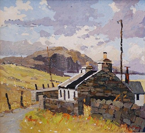 Alex McKenna 'Towards Achill Bay' #country #cottage #art #painting #Ireland #sky #landscape #AlexMcKenna #DukeStreetGallery