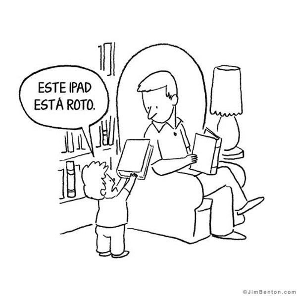 """""""Este iPad está roto..."""" #libros"""