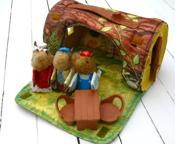 Vintage Fisher Price Woodsey Squirrel Family by MellowMermaid, $40.00
