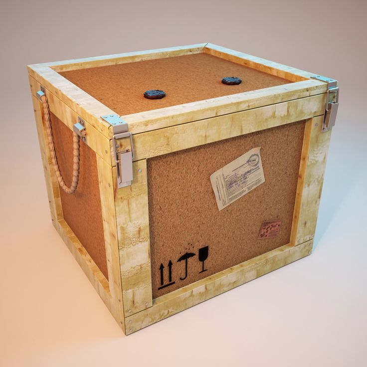 3D Postal Parcels Box - 3D Model