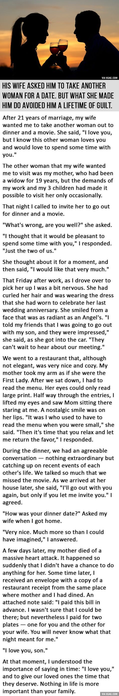 His Date with Another Woman Avoided Him a Lifetime of Guilt