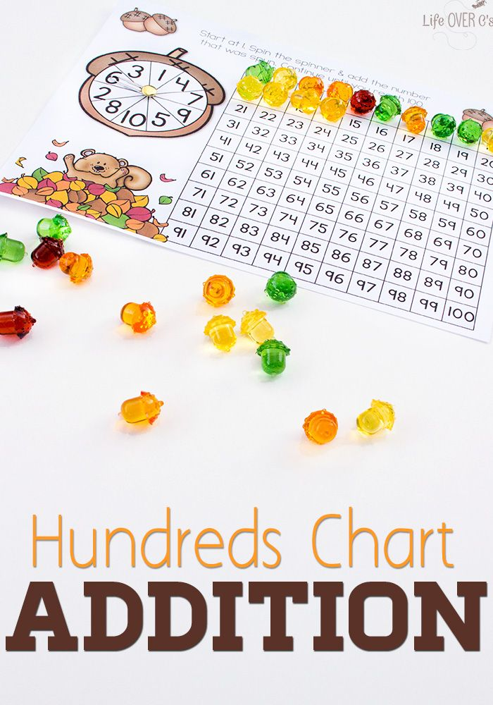 Acorn Addition with Hundreds Chart   Inspiration, Charts and Love