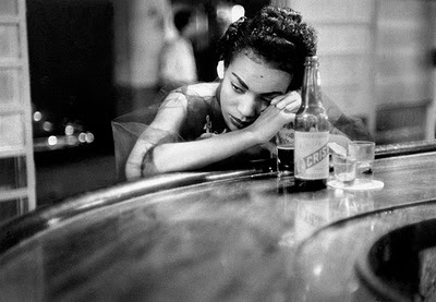 Eve Arnold, Bar girl in a brothel in the red light district, Havana, Cuba, 1954