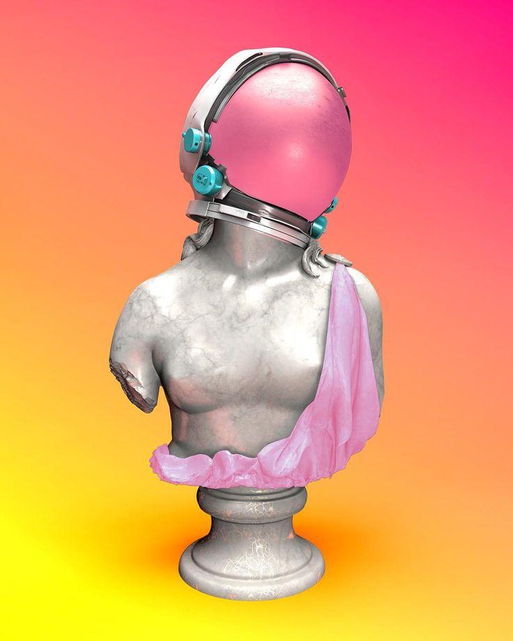 This Statue Was An Astronaut By Slimesunday Art Direction - Amazing 3d artwork dani aristizabal