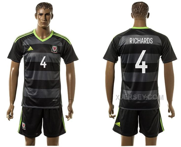 http://www.xjersey.com/wales-4-richards-away-euro-2016-jersey.html WALES 4 RICHARDS AWAY EURO 2016 JERSEY Only $35.00 , Free Shipping!