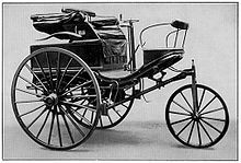 The Benz Patent-Motorwagen Number 3 of 1888, used by Bertha Benz for the first long distance journey by automobile (more than 106 km or sixty miles).