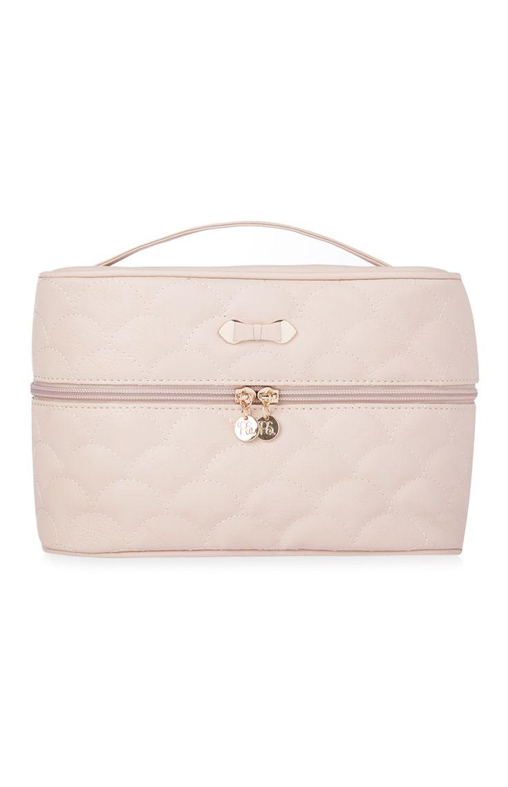 Pink Quilted Vanity Case