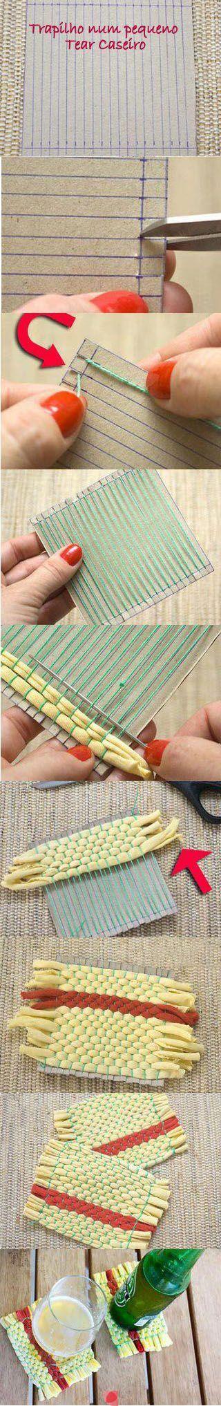 DIY support pour carré de laine: