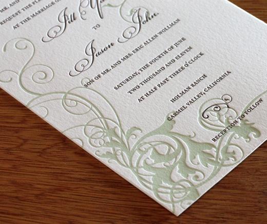 carmel wedding invitation