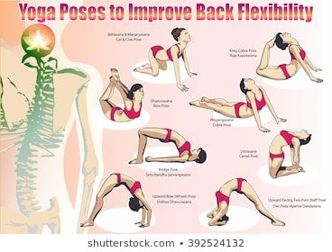 a set of yoga postures female figures sequence of