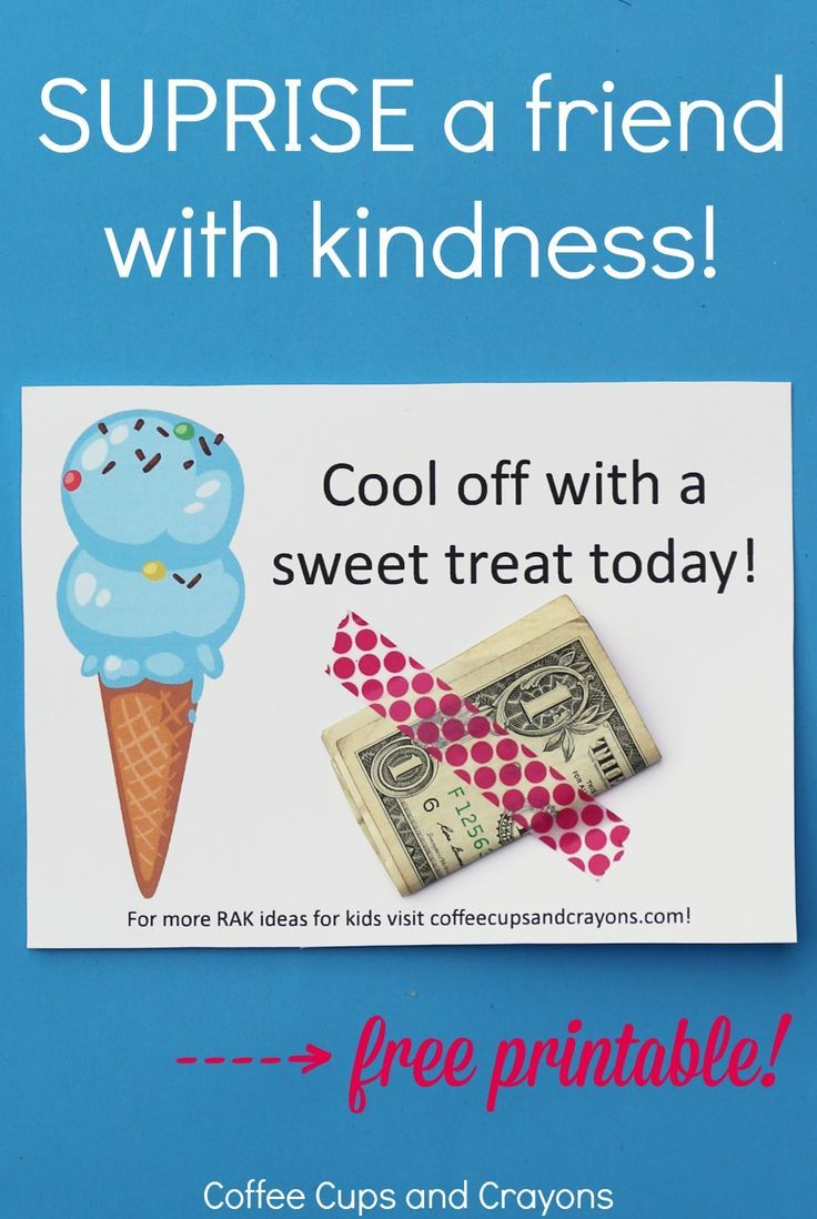 Kindness crafts for preschoolers - Ice Cream Act Of Kindness For Kids