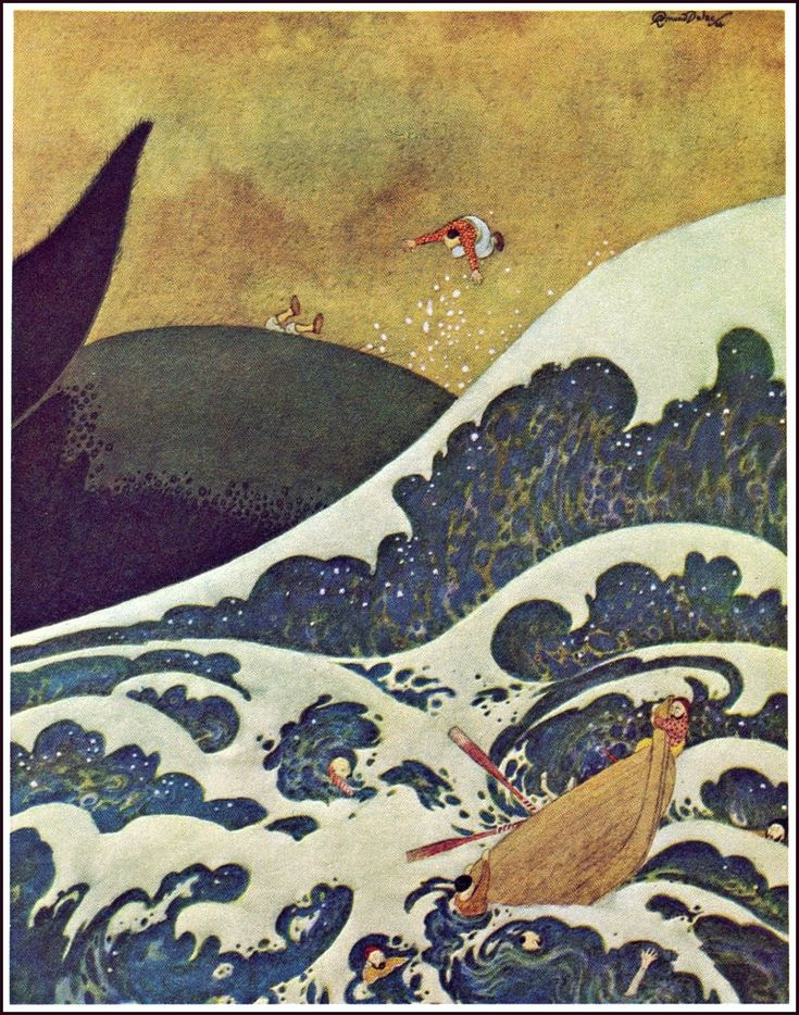Image result for Edmund Dulac Sinbad and the whale Pinterest