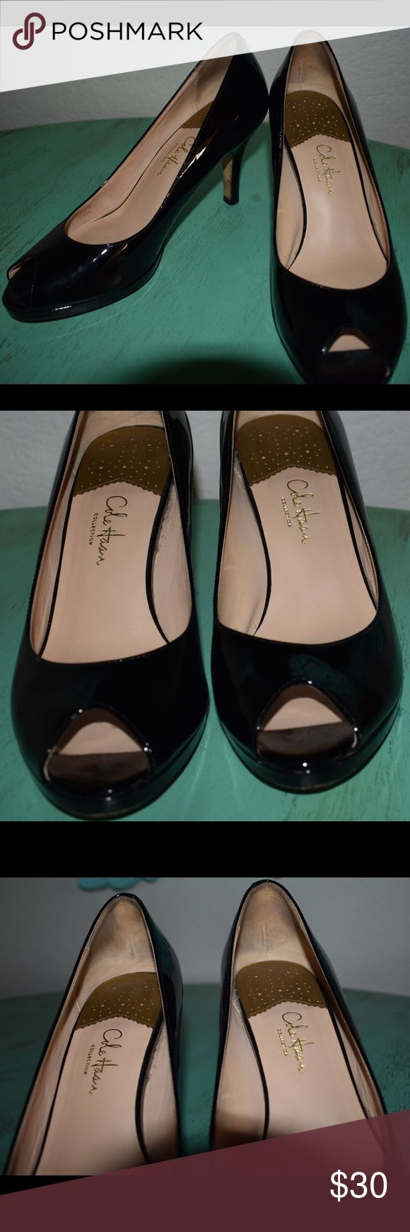 Cole Hann Nike Air black peep toe size 8 Cole Hann Nike Air black peep toe size 8. Used but in great condition. Cole Haan Shoes Heels