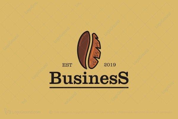 Coffee Bread Logo Coffee Bread Coffee Bean Logo Cafe Logo Design