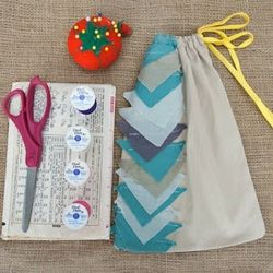 Up-cycled sewing stash bag for the beginner!