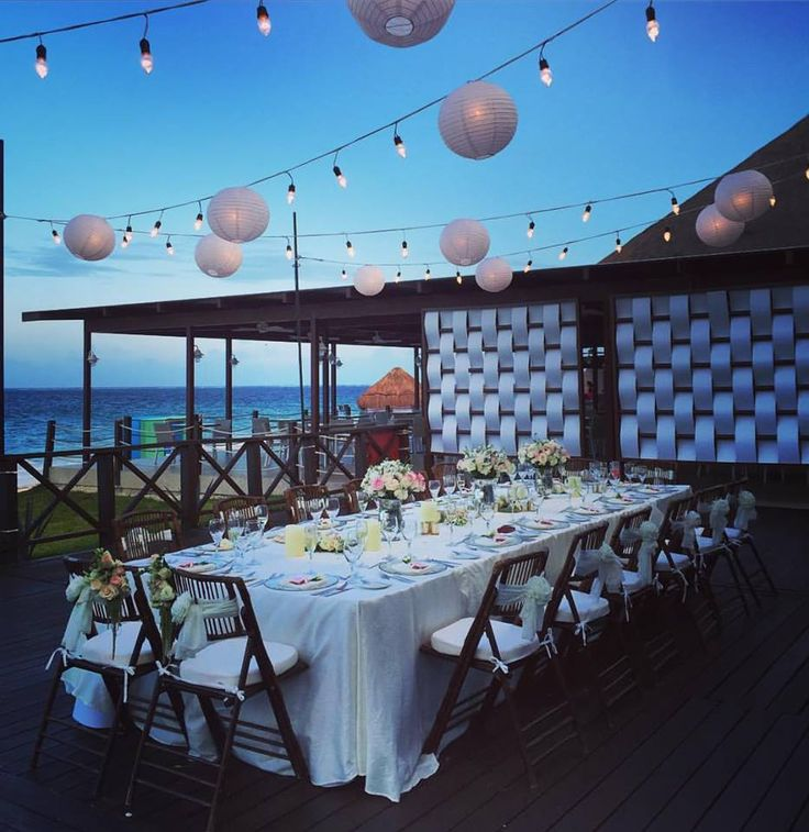 A Stunning Evening Reception Held On The Tequila Terrace Find This Pin And More Now Shire Riviera Cancun