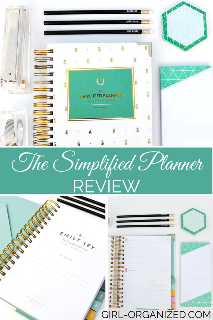 Emily Ley The Simplified Planner Review » Girl, Organized The Simplified Planner is available in three cover styles: Mint Dot, Happy Stripe, and Gold Pineapple. I chose the gold pineapple because I love gold, and those pineapples are really cute! (Mint Dot was a close 2nd!) Regardless of what cover style you choose, the Simplified Planner is a great option for those looking to simplify and organize their lives!