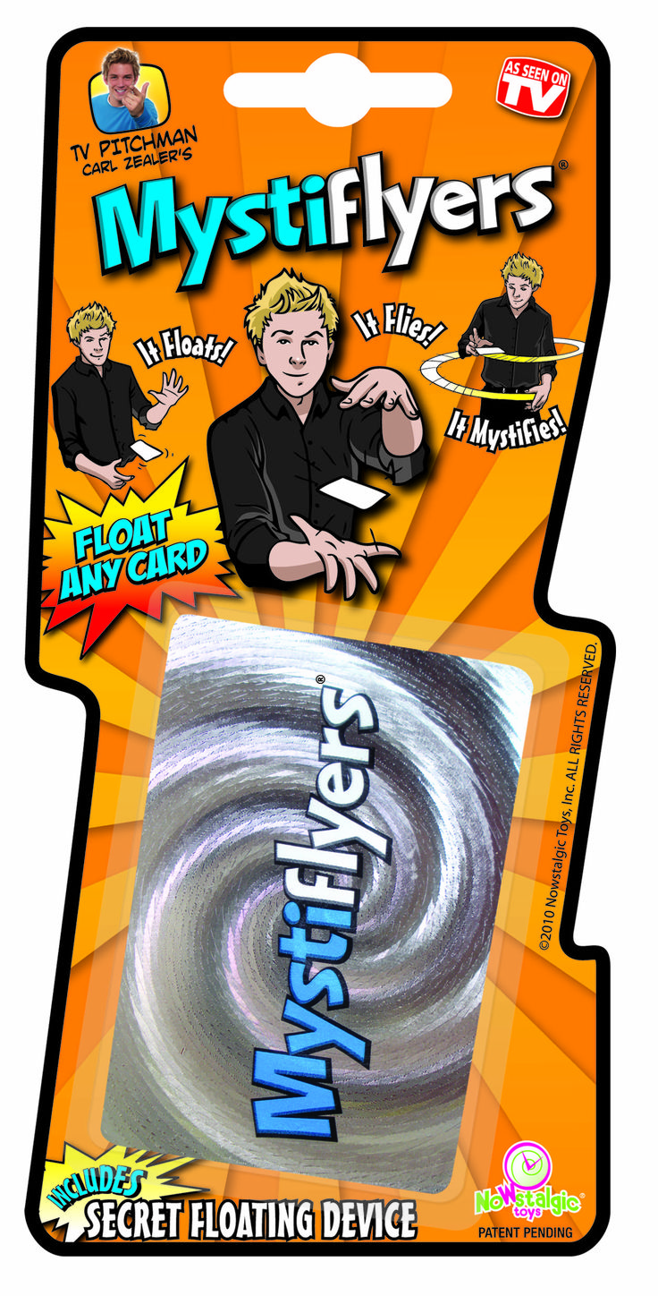 Mystiflyers is mysterious. A floating card trick from Nowstalgic Toys. #NowstalgicToys #cardtrick #magic #toys