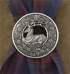 Celebrating Scotland - Stag Kilt Pin
