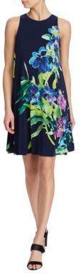 Lauren Ralph Lauren Petite Sleeveless Trapeze A-Line Dress