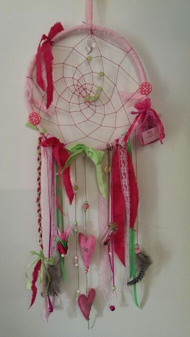 Dream catcher for 6 year old, complete with 'bag of dreams' and 'wishing jar'