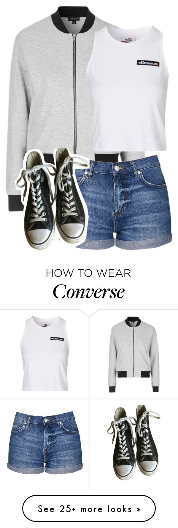 """""""Untitled #1346"""" by chaoticaphrodite on Polyvore featuring Topshop and Converse"""