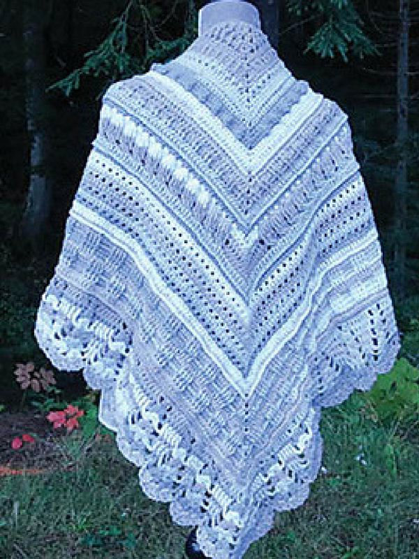 Study Of Texture Shawl Free Crochet Pattern Crochet Pinterest