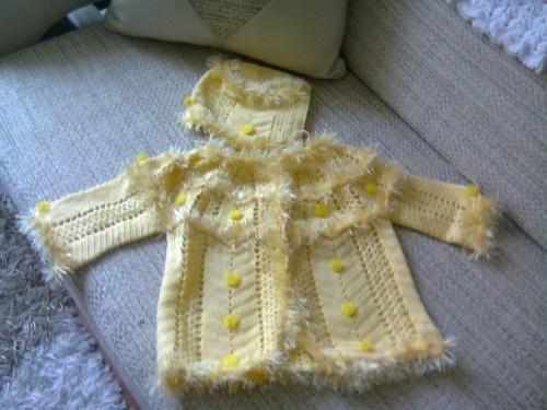 bebek örgüleri: Bebek Hırkası, Örülmüş Bebek, Hırkası Ve, Knitting Baby, Tığla Örülmüş