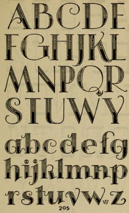 "Hand lettered page from the book, ""Studio handbook : lettering : over 250 pages, lettering, design and layouts, new alphabets (1960)."""